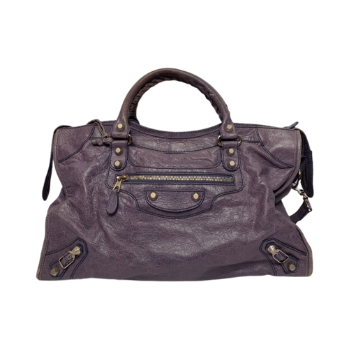 Balenciaga Purple Motto Bag