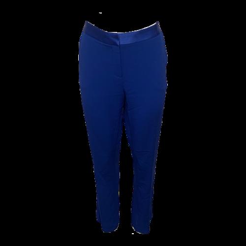 Diane von Furstenberg Blue Pants w/ Satin Waistband
