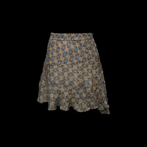 Derek Lam Fluted Print Skirt