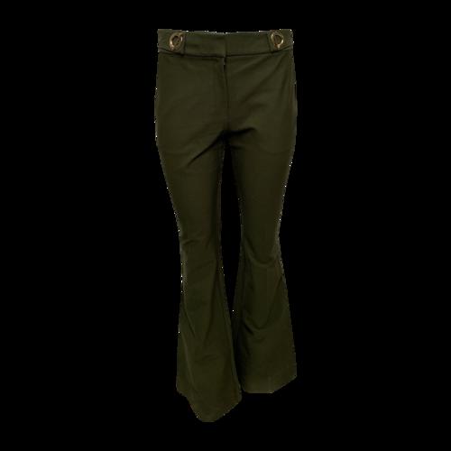 Derek Lam Olive Green Pants w/ Golden Side Clasps