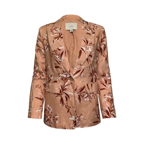 Joie Floral Printed Linen Blazer