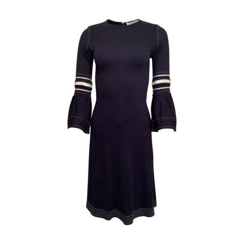 Chloé Navy Dress w/ Flare Sleeves