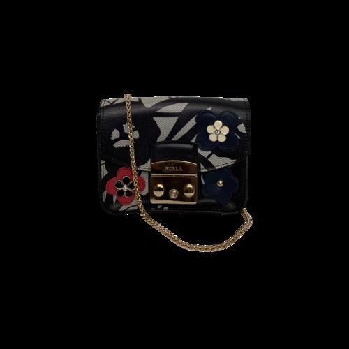 Furla Metropolis Floral Mini Crossbody Bag