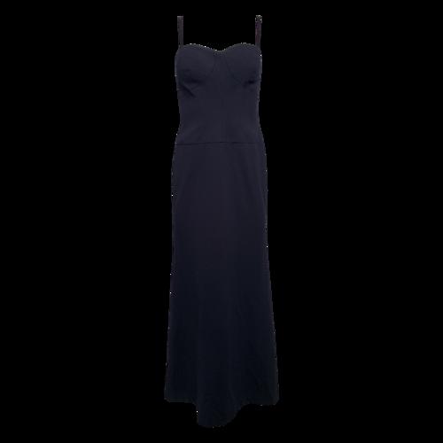 Vera Wang Navy Bustier Gown