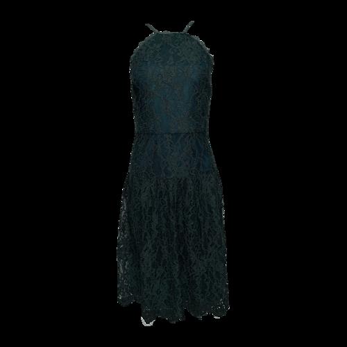 Trina Turk Green Halter Lace Dress