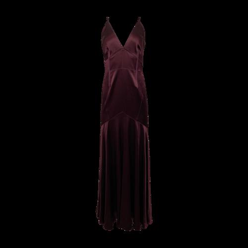 Jill Stuart Plum V-Neck Gown