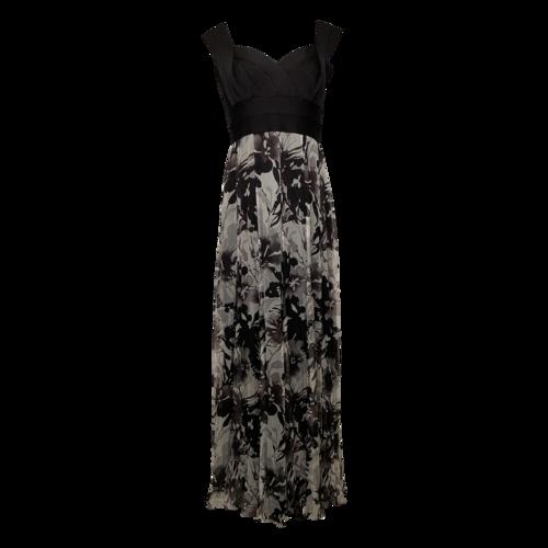 Tadashi Shoji Floral Gown w/ Bandage Style Bodice