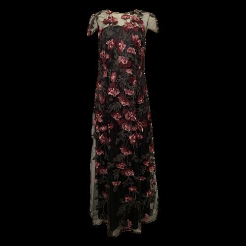 David Meister Floral  Embroidered Dress