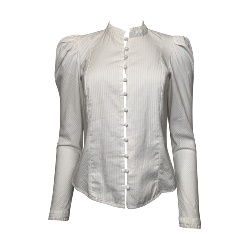 FRAME Victorian Style Blouse w/ Puff Shoulders