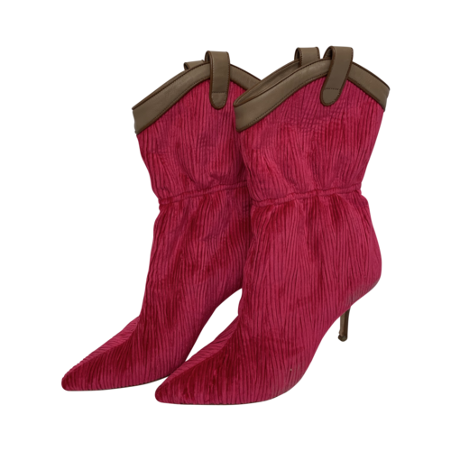 """Malone Souliers Pink """"Daisy"""" Corduroy Booties"""