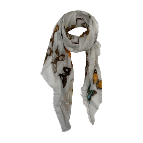 Boutique Butterfly Print Scarf