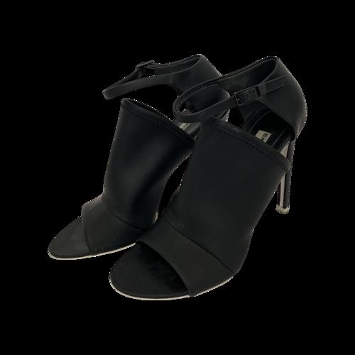 Balenciaga Black Open Toe Mule Sandals