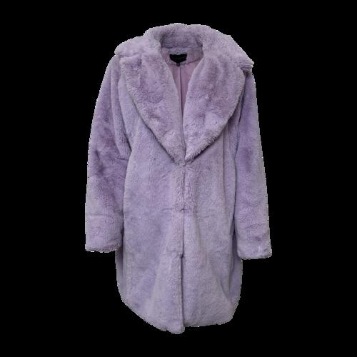 Eloquii Lavender Faux Fur Coat