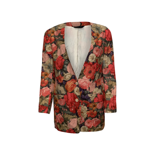 Burberry Floral Print Blazer