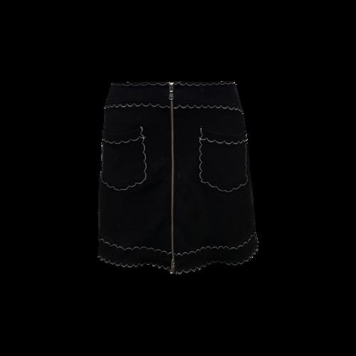 Alexander McQueen Black Scallop Stitch Skirt