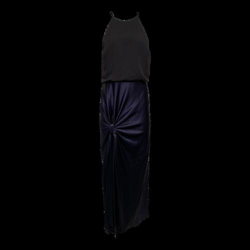 Halston Dual-Tone Halter Gown