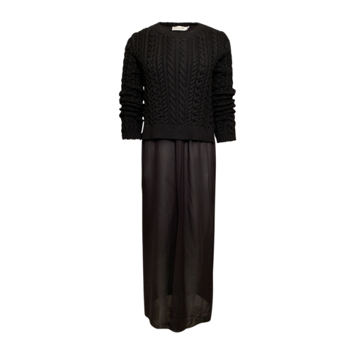 Dior Cable Knit Sweater Dress w/ Flowy Skirt