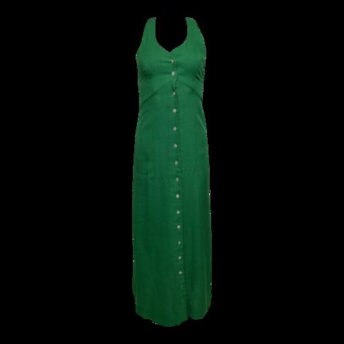 Saks Fifth Avenue Green Racerback Button Dress