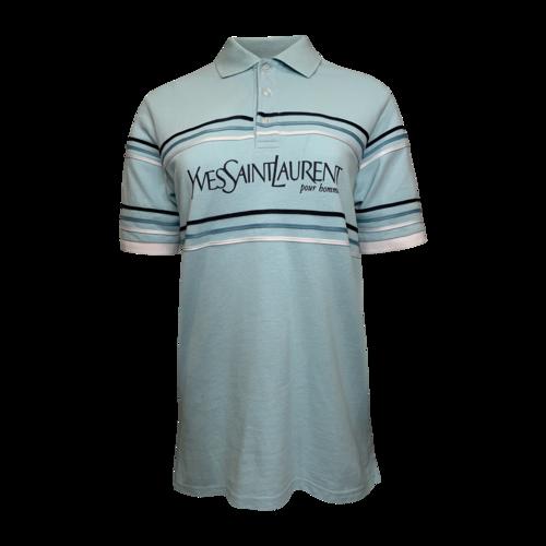 Yves Saint Laurent Blue YSL Pour Homme Polo Shirt
