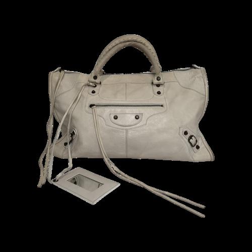 Balenciaga Cream Motto Bag