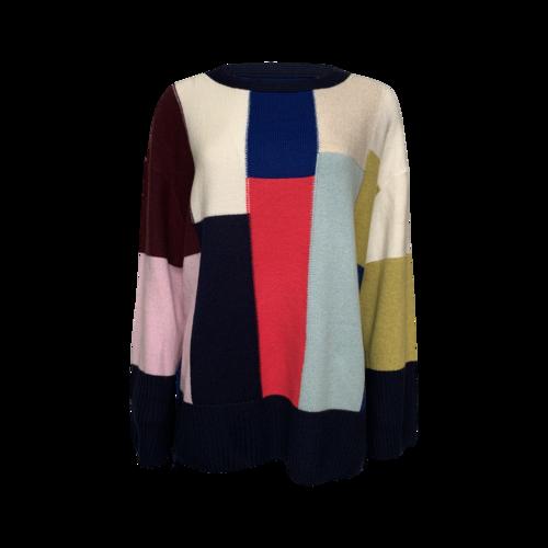 St. John Color Block Oversized Sweater