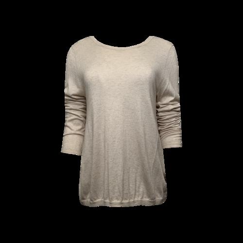 Joie Beige Sweater w/ Lace Insert