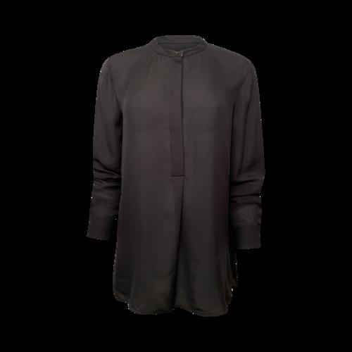 Vince Black Silk Button Up Blouse