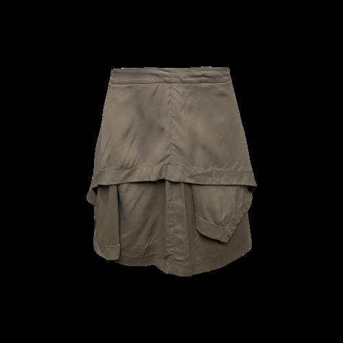 Alexander Wang Deconstructed Beige Skirt