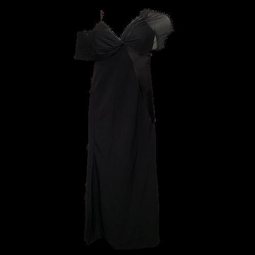 Diane von Furstenberg Black Gown w/ Asymmetrical Shoulders