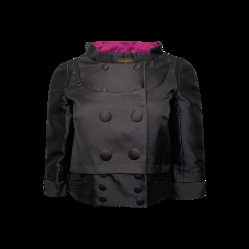 Louis Vuitton Black Satin Cropped Jacket