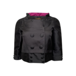 Black Satin Cropped Jacket