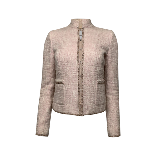 Walter Pink Tweed Jacket w/ Beading