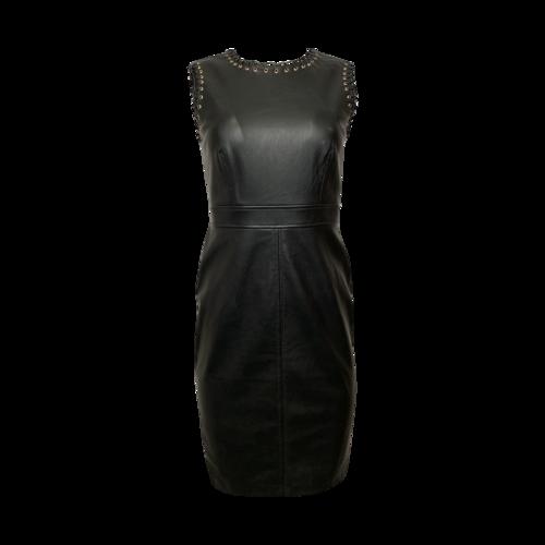 Karl Lagerfeld Black Faux Leather Dress