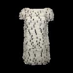 White Tiered Dress w/ Black Paillettes