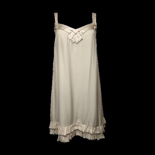 Sandro Paris Cream Slip Dress