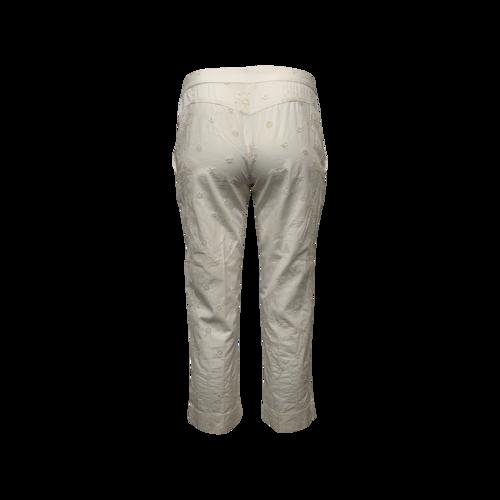 White Eyelet Pants