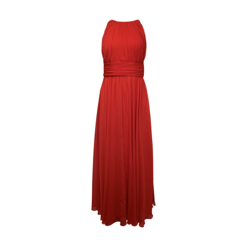 Badgley Mischka Red Empire Waist Gown