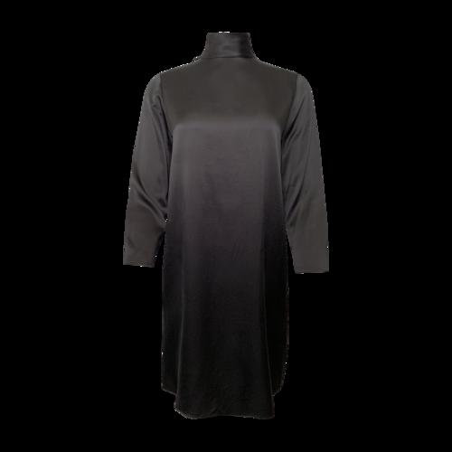 Vince Black Mock Neck Silk Dress