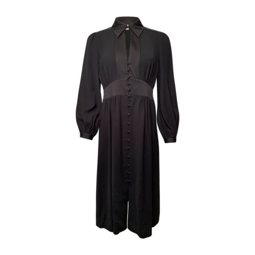 Joie Black Long Sleeve Button Front Dress