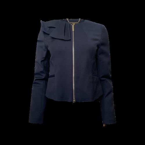 Ted Baker Navy Zip Up Jacket w/ Collar Detail