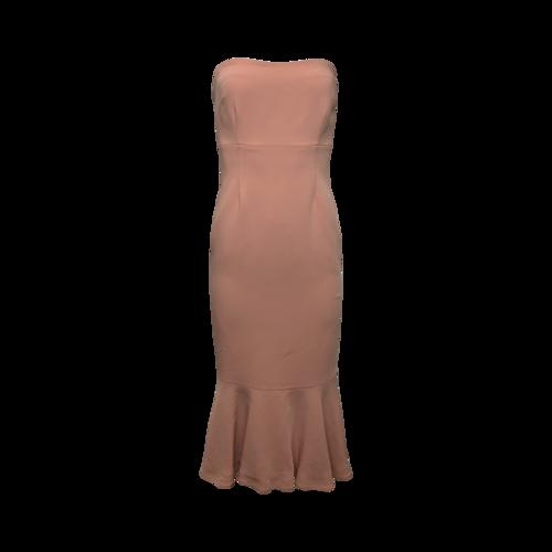 Cinq à Sept Pink Strapless Dress w/ Mermaid Skirt