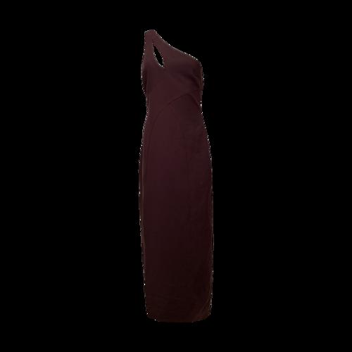 Cinq à Sept One- Shoulder Deep Purple Gown