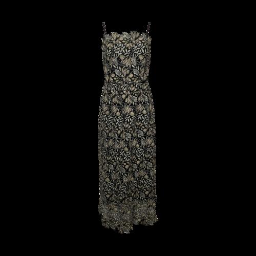Monique Lhuillier Tea Length Floral Embroidered Dress