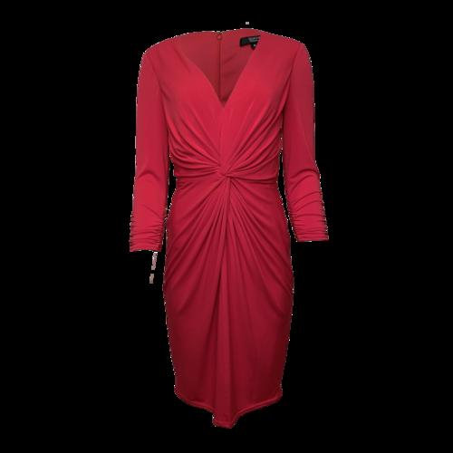 Tadashi Shoji Red Knot-Front Dress