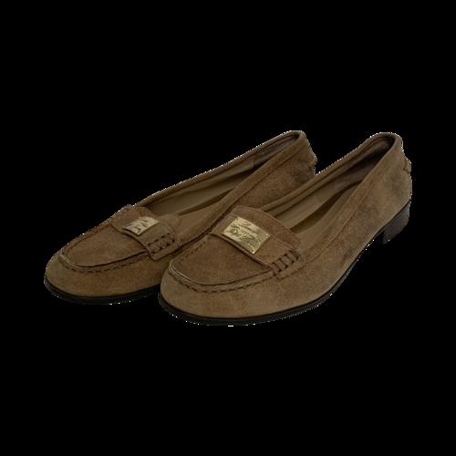Ralph Lauren Beige Suede Loafers