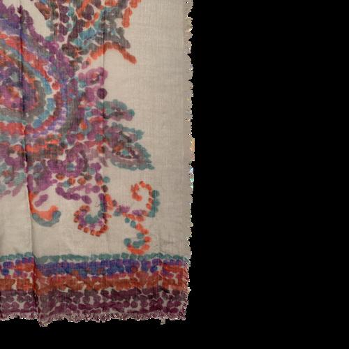 Multi-Color Paisley Print Scarf