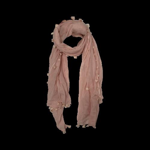 Boutique Pink Tassel Scarf
