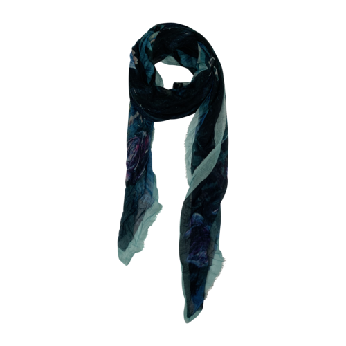 Boutique Blue-Green Abstract Print Scarf