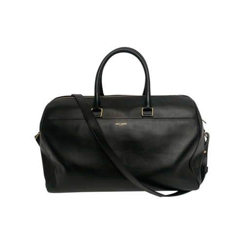Yves Saint Laurent Black Leather Duffle Bag