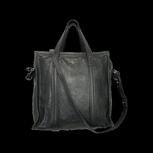 Balenciaga Grey Bazar Leather Bag